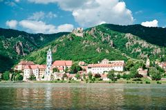 Duernstein and Danube River Stock Photo