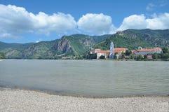Duernstein Danube River, Wachau, lägre Österrike Royaltyfria Bilder
