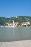 Duernstein, Wachau, ποταμός Δούναβη, Αυστρία Στοκ Εικόνα
