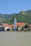 Duernstein Wachau, Danube dal, Österrike Arkivfoto