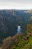 Duero Arribes del ποταμός, Σαλαμάνκα, Ισπανία Πανοραμική άποψη άνωθεν Στοκ Φωτογραφία