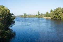 Duero flod, Tordesillas, Spanien Royaltyfri Foto