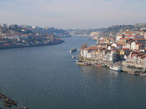Duero-Fluss in Porto Lizenzfreies Stockbild