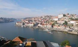 Duero-Fluss in Porto Lizenzfreie Stockbilder