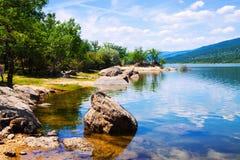 Duero-Fluss in Soria Province lizenzfreie stockfotos