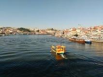 Duero-Flussboot, Ribeira Lizenzfreies Stockbild