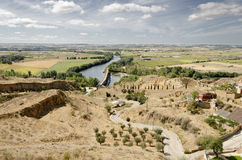 Duero River. View from Toro (Zamora) in Castilla Leon in Spain Stock Photography