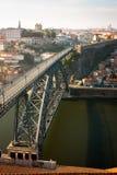 Duero river Bridge stock image
