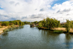 Duero river passing through the city of Zamora Stock Images