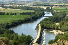 Duero river from Toro (Zamora) Royalty Free Stock Photos