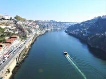 Duero rzeka i most: ` Ponte robi infanta ` Portugalia obrazy royalty free