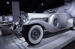 1936年Duesenberg模型SJN敞篷车小轿车 库存图片