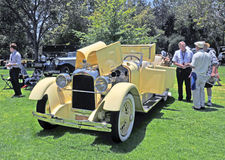 Duesenberg Dual Cowl Phaeton. This is a 1921 Duesenberg Dual Cowl Phaeton, a car built during the Great Gatsby era for the rich and famous Royalty Free Stock Image