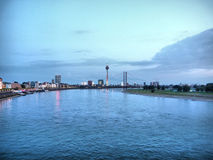 Duesseldorf. View of the town of Duesseldorf in Germany - high dynamic range HDR stock image