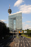 Duesseldorf City Gate. The modern building Stadttor of Dusseldorf in Germany Royalty Free Stock Photos