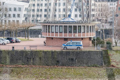 Duesseldorf harbour police building Stock Photography