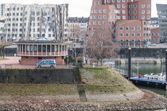 Duesseldorf harbour police building Stock Photos
