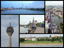 Duesseldorf landmarks collage Royalty Free Stock Images