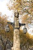 Duesseldorf - lanterne uniche su Koe Fotografia Stock
