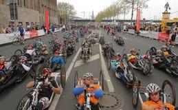 Duesseldorf-Marathon Stockbild