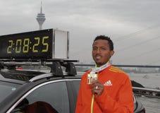 Duesseldorf Marathon Stock Photos