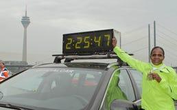 Duesseldorf Marathon Stock Images