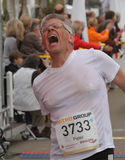 Duesseldorf Marathon. April 29th 2012 , Duesseldorf Germany. The 10 Metro Marathon. The event was held in North Rhine Westfalias captal city. There were 14000 Stock Photo