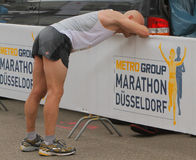 Duesseldorf Marathon. April 29th 2012 , Duesseldorf Germany. The 10 Metro Marathon. The event was held in North Rhine Westfalias captal city. There were 14000 Royalty Free Stock Photo