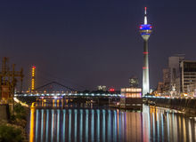 Duesseldorf Media harbour at night Stock Photography