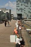 Duesseldorf Mediahafen Immagine Stock Libera da Diritti