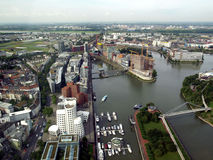 Duesseldorf mediahafen harbour Stock Image