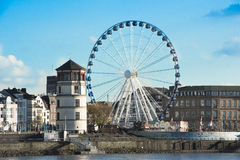 Duesseldorf - big wheel Royalty Free Stock Photos