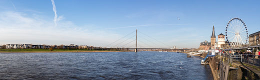 Duesseldorf panorama with river Rhein (Rhine), Germany Stock Photography