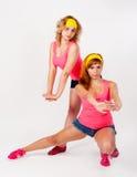 Duet ładny dziewczyn tanczyć Fotografia Stock