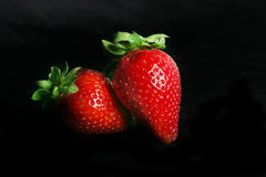 Duet de fraise Image stock