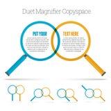 Duet Magnifier Copyspace Royalty-vrije Stock Afbeelding