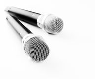 Duet modern wireless microphone Stock Image