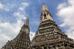Duet pagoda przy królewską świątynią Zdjęcie Royalty Free