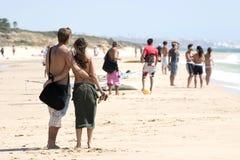 duet plażowa miłości Obrazy Royalty Free
