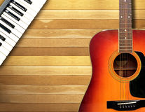 Duet songs with piano and guitar. Stock Photos