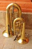 Dueto da tuba Foto de Stock Royalty Free