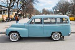 从边的富豪集团Duett汽车 免版税库存照片