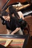 Duett med pianon Arkivfoton