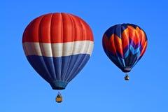 Duetto #3 dell'aerostato di aria calda Fotografia Stock