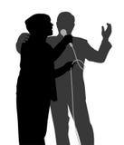 Duetto senior di canto Fotografia Stock