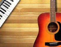 Duettsånger med pianot och gitarren Arkivfoton