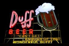 Duff Beer royalty-vrije stock foto
