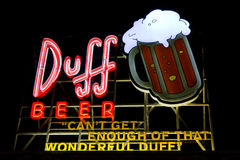 Duff Beer  Royalty Free Stock Photo