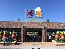 Duff Beer, Universele Studio's, Orlando, FL stock afbeelding