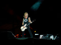 Duff McKagan in Guns N Roses concert - not in this lifetime southamerica tour. CURITIBA, BRAZIL - NOVEMBER 17, 2016 - Duff McKagan in Guns N Roses concert - not stock photography